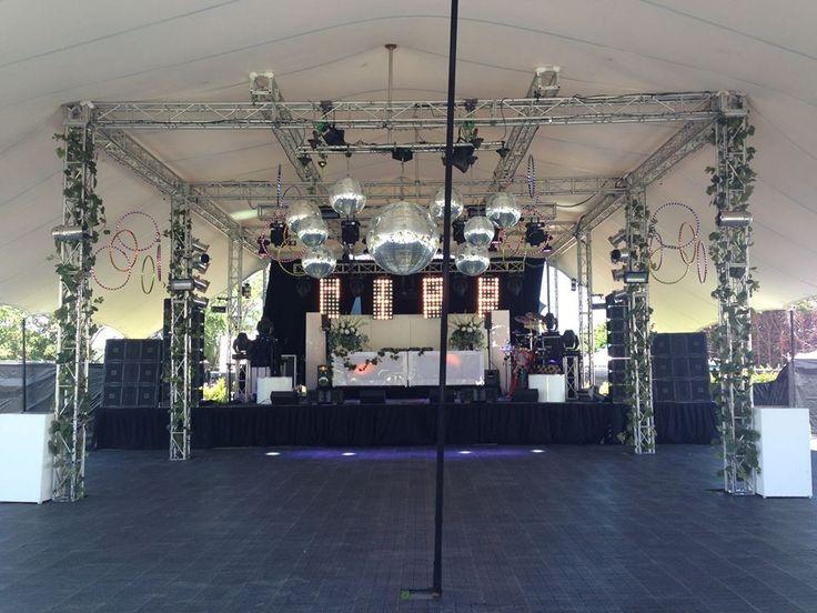 Highlife Entertainment's Fiesta Del Sol at Puketutu Island. Schupepe canopy over truss.
