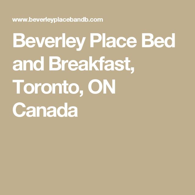Beverley Place Bed and Breakfast, Toronto, ON Canada