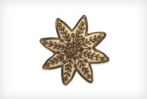 Snowflake cream w/ant gold – www.themotelshop.co.nz