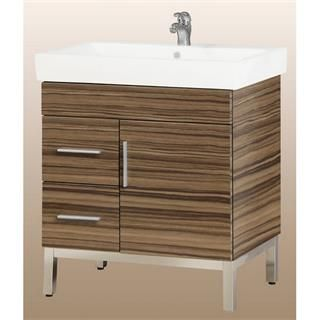 "Check out the Empire Industries DF30-12TG Daytona 30"" One Door and Two Right Side Drawers Vanity in Timber Gloss for Fiorella Ceramic Sink Top priced at $1,209.60 at Homeclick.com."