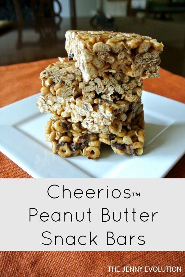 Cheerios Peanut Butter Snack Bars - Gluten Free! Can Make Peanut Free ...