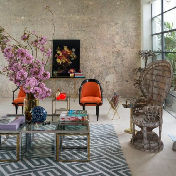 Hollywood Glamour Meets Graphic Patterns And Floral Art In This Converted Factory Home Take A