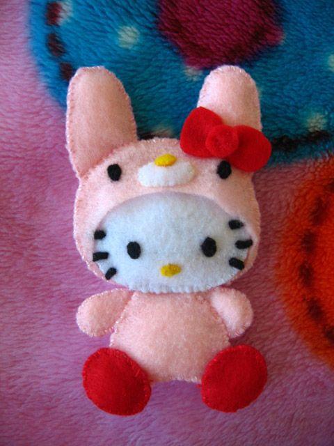 Hello Kitty Pink Bunny Felt Craft