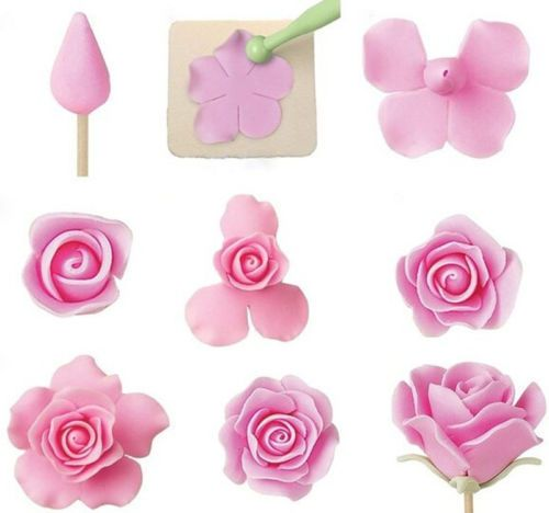 Fondant-Cake-Cookie-Decorating-Sugarcraft-Cutter-Rose-Flower-Mold-Gum-Paste-Tool