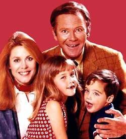The Stevens Family of Bewitched....Samantha, Darrin, Tabitha, & Adam.