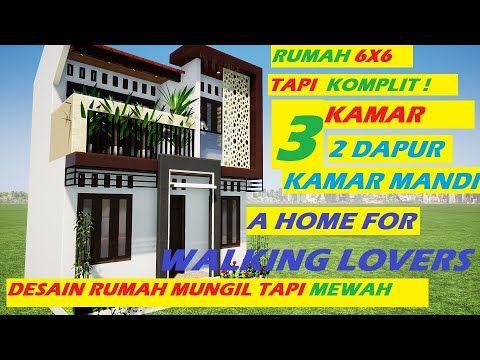 Desain Rumah 6x6 2 Lantai 3 Kamar Tidur 2 Dapur Ada Balkonnya 6x6 House Design Desain Rumah Kecil Youtube Di 2020 Desain Rumah Lantai Balkon