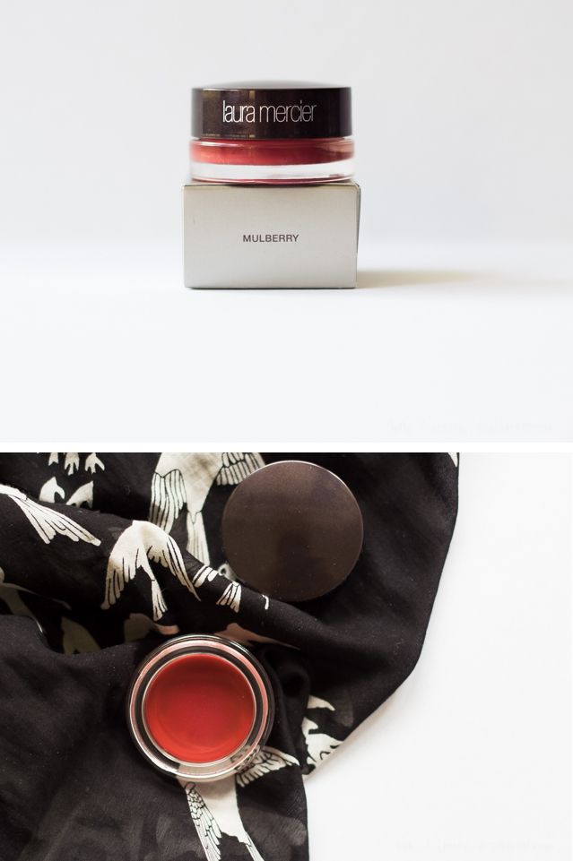 Laura Mercier Mulberry Lip Stain: Review, Swatches, FOTD http://myfunnyvalentineblog.com/2014/06/laura-mercier-mulberry-lip-stain-review-swatches-fotd.html #MakeupCafe