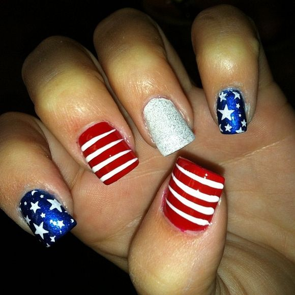 4th Of July Nail Designs - Best 25+ Junk Nails Ideas On Pinterest Pretty Nails, Black Gold