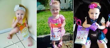 Little Miss Mackenzie coordinates her outfits with her Rafferty's Garden Yoghurt Buttons Snacks :)    www.raffertysgarden.com    #RaffertysGarden #YoghurtButtons #Snacks
