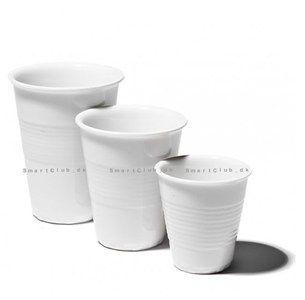 """EXCEL Kaffekrus """"engangskrus design"""", Hvid, 3 str."""