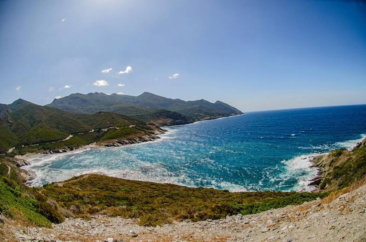 Entre  #mer et  #montagne ... Le petit coin de  #paradise in  #corsica  #roadtrip  #solo  #lanscape  #landscapephotography  #landscaping  #landscapelover  #pano  #panorama  #panoramic  #bluewater  #watercolor  #color  #mountains  #frenchlandscape  #photography  #sky  #bluesky  #mare  #amazing  #beautyandthebeast