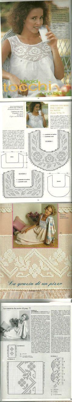 Lindas aplicações de crochê