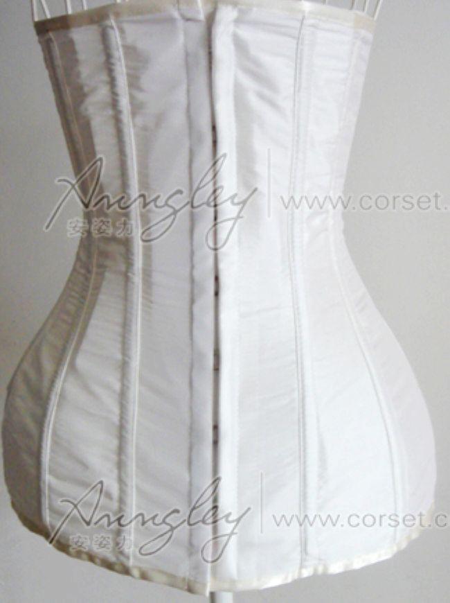 Elegant Long White Full Body Waist Training Underbust Corset Busiter -- Corset Top,Corsets Wholesale,Sexy Corset Dress,Corset Bustier,High Heels