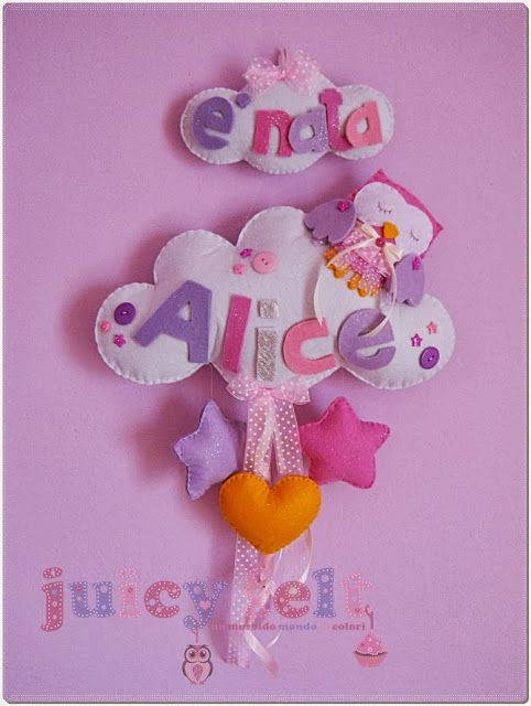 Il fiocco nascita di Alice