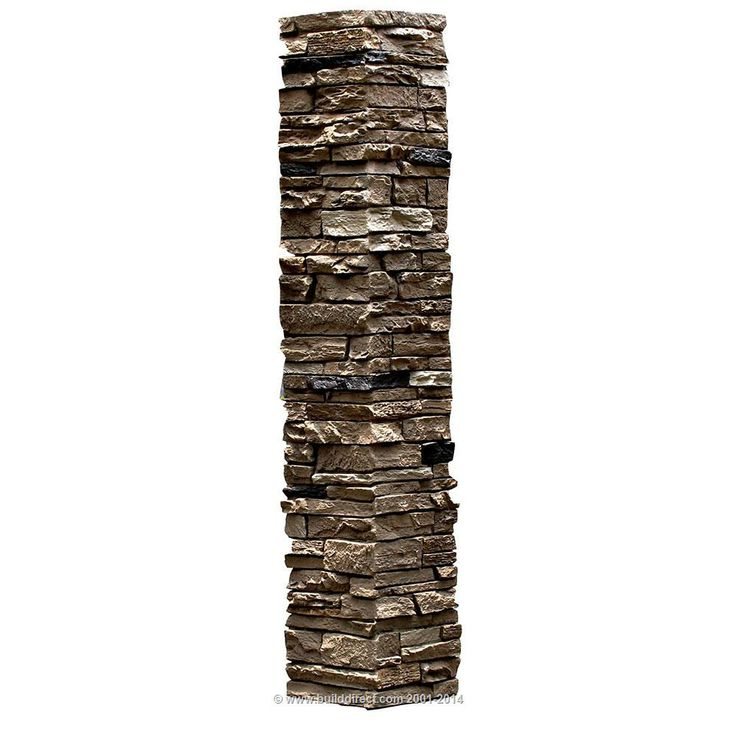 Stone Columns Wraps Kits : Builddirect deck railings faux stone railing post covers