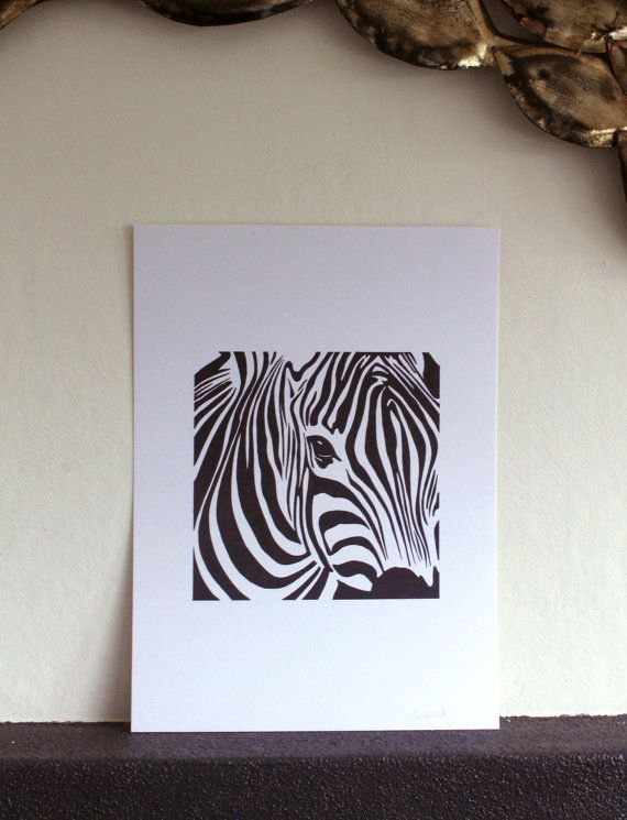 Zebra Black and White A3 Art Pen Drawing by ArieleArt on Etsy, $30.00