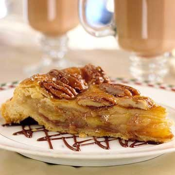 upside down apple pie.