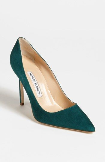 Manolo Blahnik 'BB' Pointy Toe Pump | Nordstrom Look at that color! The lines!