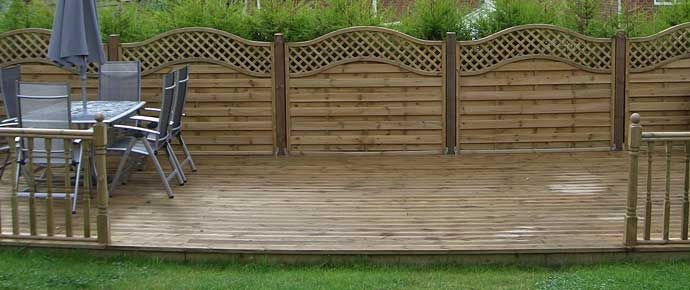 pallet deck | Buy Wooden Pallets, Garden Sheds, Decking and Fencing in Manchester