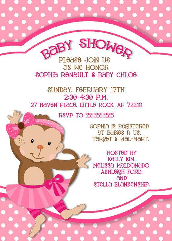 Monkey Baby Shower Invitation  5x7 Printable by PhotoGreetings