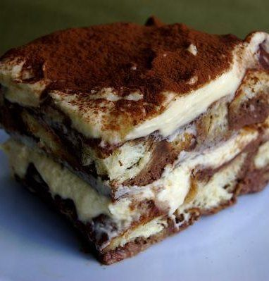 tiramisu bread pudding - while I believe the recipe itself is sacrilege, the custard technique within it sounds promising for other bread pudding recipes.