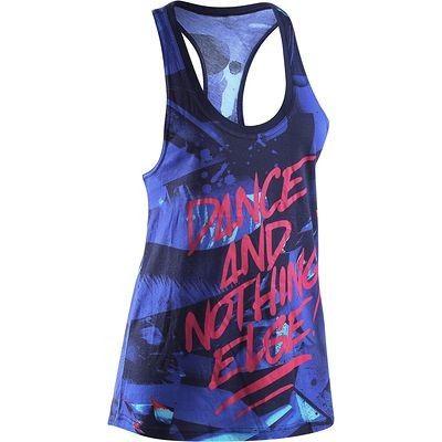 Ginnastica e Danza Abbigliamento fitness,Danza - Canotta donna danza azzurra DOMYOS - Abbigliamento Palestra
