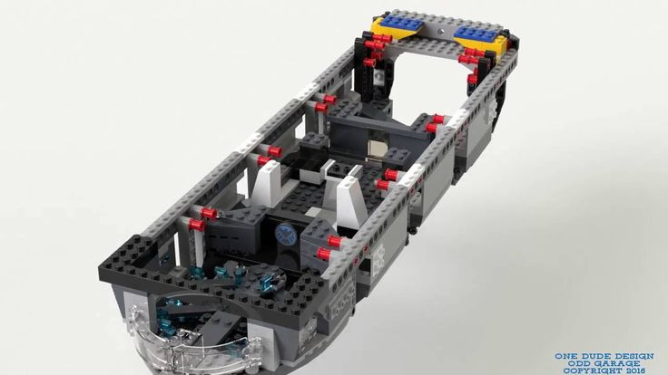 Lego Helicarrier (Kit 76042) Sub Assembly 03 Build Video