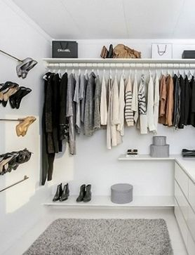Beautiful small-space storage solutions to make your home a better place Small Walk In Closet System | organizing wardrobe | WIC