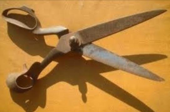 Oxidación de tijeras.