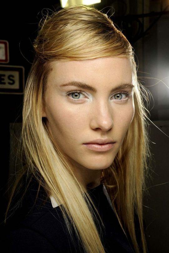70 shades of blonde: inspiration to take to your hairdresser: Dark golden blonde at Giambattista Valli.
