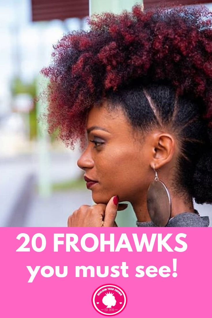 20 Absolutely Gorgeous Frohawk Hairstyles to Feast Your Eyes On | Natural hair styles, Natural ...