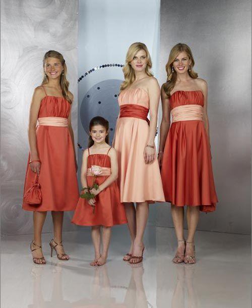 navy orange wedding | ... Looking Orange Dresses Design for Bridesmaids - Happy Wedding Wishes