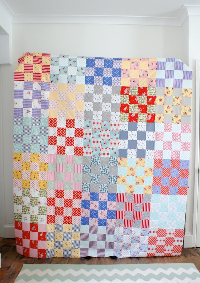 St Louis 16 Patch Quilt Top by Messy Jesse