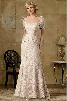 New Mother Of The Bride Dress Long Party Fashio Prom Gown Evening Lace