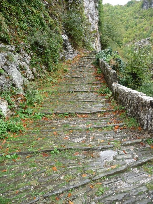 Hiking path in Zagoria