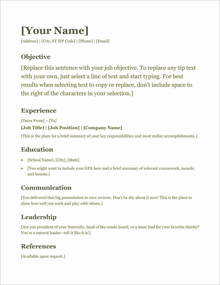 25 microsoft office resume templates in 2020 resume