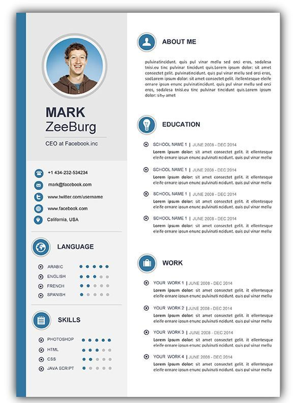 Resume Templates And Resume Examples Free Resume Template Word