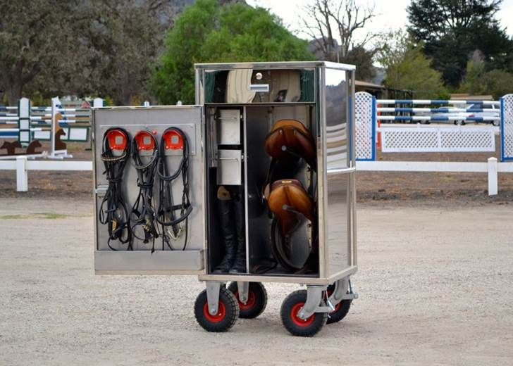 English Tack Store - AluJumps Stainless Steel Tack Trunk, $3,200.00 (http://www.englishtackshop.com/alujumps-stainless-steel-tack-trunk/)