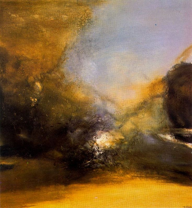 Zao wou-ki - He attempted to depict things unseen: the energies of life, the wind, movement, the life within objects, and colors that unfold and merge into different hues. In so doing, he created a new world with infinite artistic possibility
