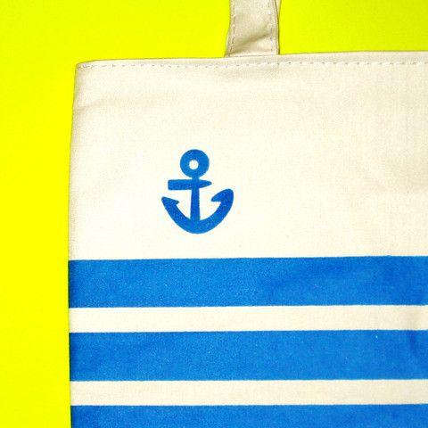 Striped Anchor Rockabella Tote - Mookie Designs