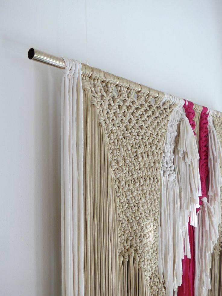 pompom tapestry, modern macrame by Sara Pierazzuoli, weaver