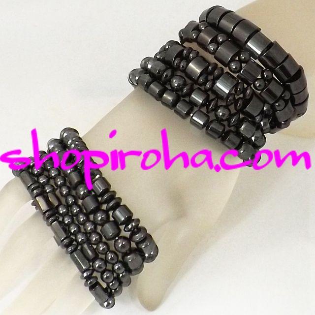 ブラック・ダイヤの輝き、ブラック・ヘマタイト・磁気ブレス12・パワーストーン・ブレスレット - ジュエリー・アクセサリーの通販shopiroha.com
