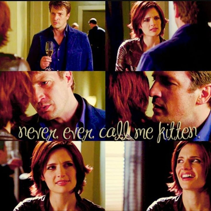 "Never ever call me kitten ❤ #oldcastlebestcastle #caskettinglikeaboss #katebeckett #rickcastle #caskett #caskettlovestory #castle #castletv #castleshow #bestshowever #missthem #always #stanakatic #nathanfillion Not my edit, i found it on google so if it's ""yours"" just let me know. ✌"