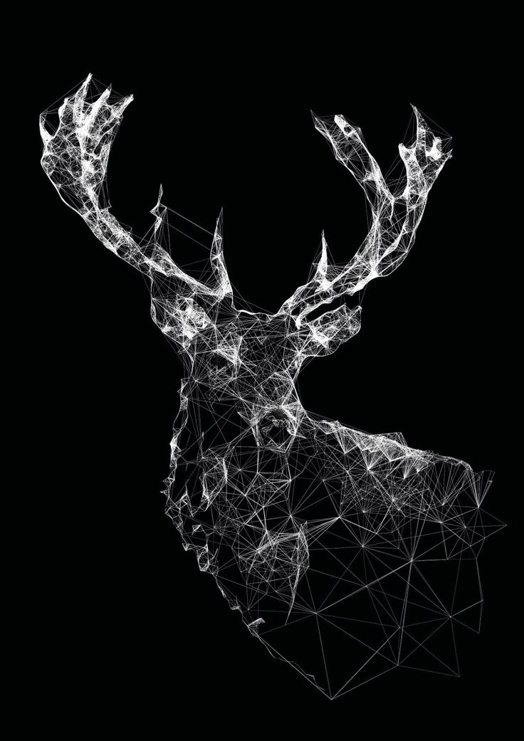 Stag by Jordan Rogers #geometric #antlers #deer   Beautiful art, but all I could think about was this as Harry's patronus.