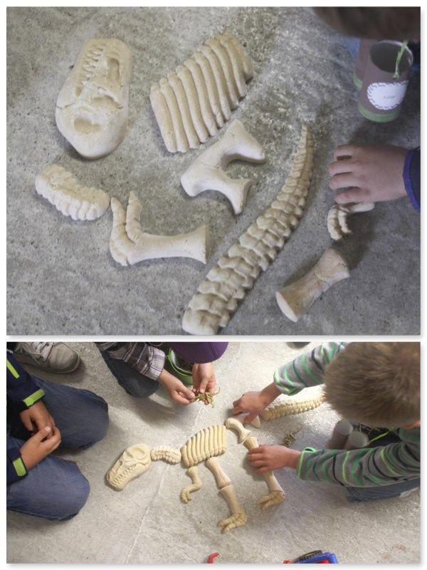 Dinoparty, Dinogeburtstag, Spiele, Games, Ausgrabung, Skelett, Knochen www.pickposh.de