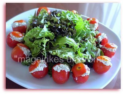 Σαλάτα με ντοματάκια Σαντορίνης
