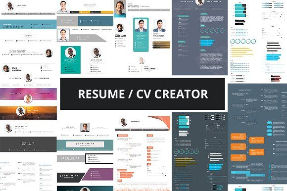 Resume / CV Creator kit by pmvch on @Graphicsauthor