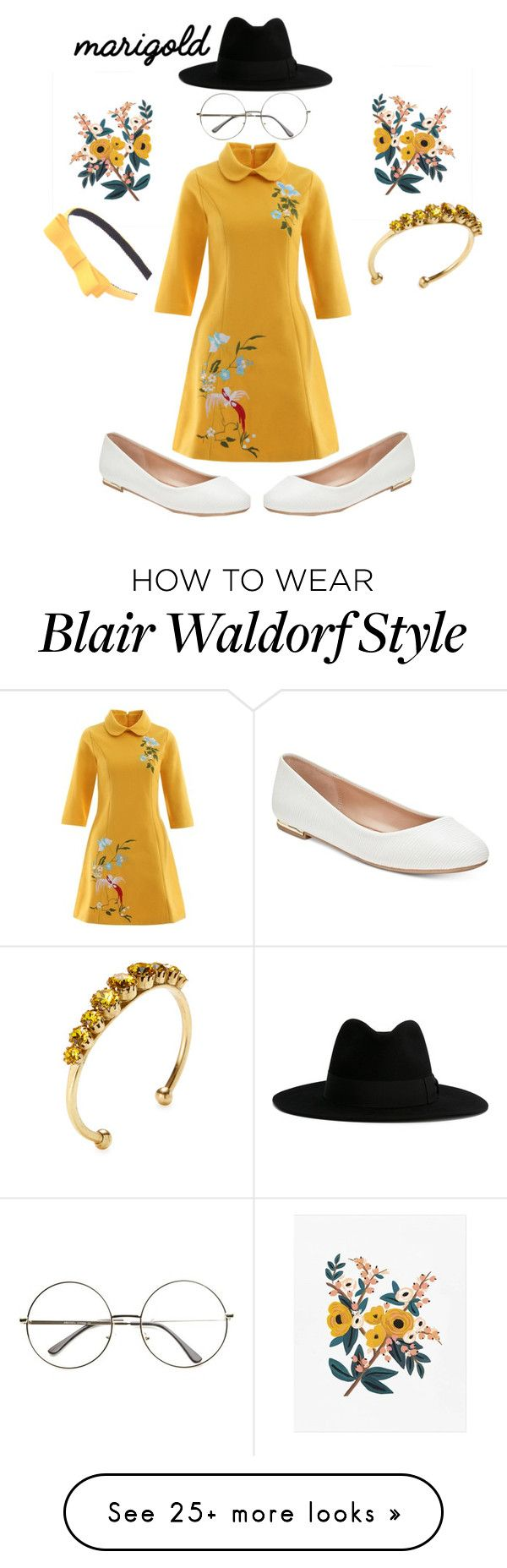"""""""Marigold"""" by captaincutiee on Polyvore featuring Elizabeth Cole, Call it SPRING, Yves Saint Laurent, yellow, Flowers, floralprint and marigold"""