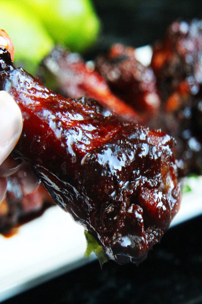 FIVE-SPICE, CURRY, LIME & GINGER CHICKEN WINGS with STICKY SOY SAUCE BALSAMIC VINEGAR GLAZE [carlsbadcravings]