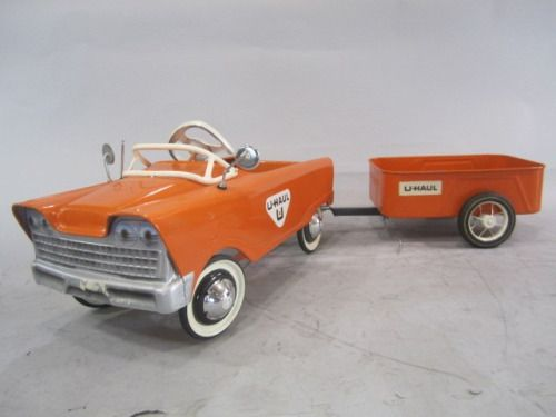 u haul pedal car and trailer